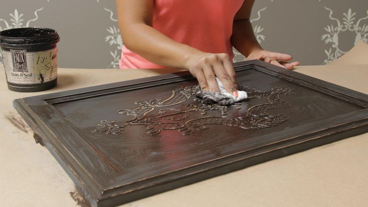 How to Stencil on Wood Tutorial: Create a Carved Wood Effect with Furnit...