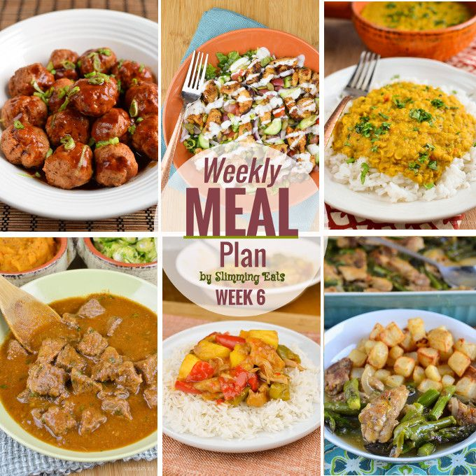 Slimming Eats Weekly Meal Plan – Week 6