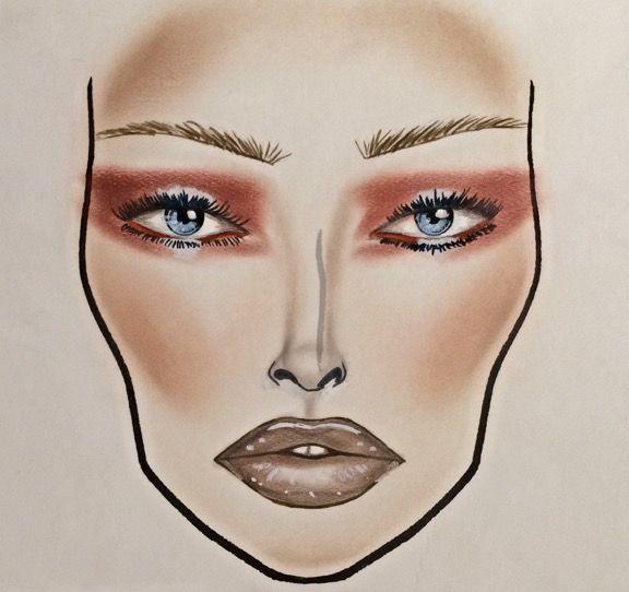 MAC Vamplify lipgloss inspired facechart