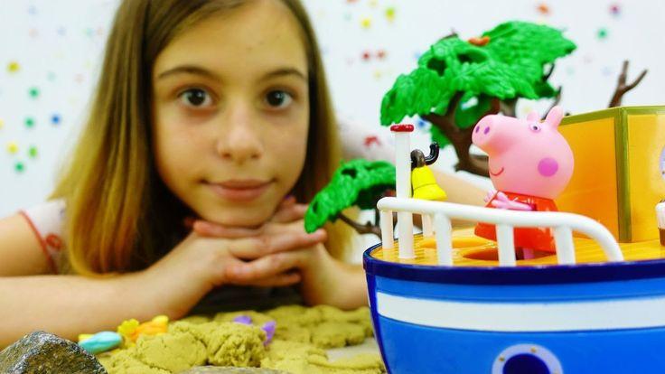Свинка Пеппа ищет клад. Видео с игрушками от лучшей подружки Вики. Кинет...