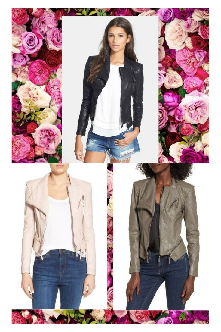 Cute Leather Jacket Comes with 3 different color for you to choose . (;