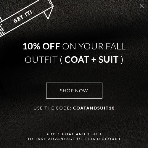 10% OFF on your Fall Outfit (coat + suit) http://tailor4less.com
