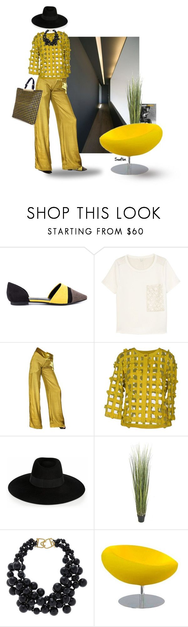 """Mellow yellow. With music"" by soofiia ❤ liked on Polyvore featuring Chinese Laundry, rag & bone, Michael Van Der Ham, Class Roberto Cavalli, Maison Michel, Kenneth Jay Lane, Tisettanta and Marni"