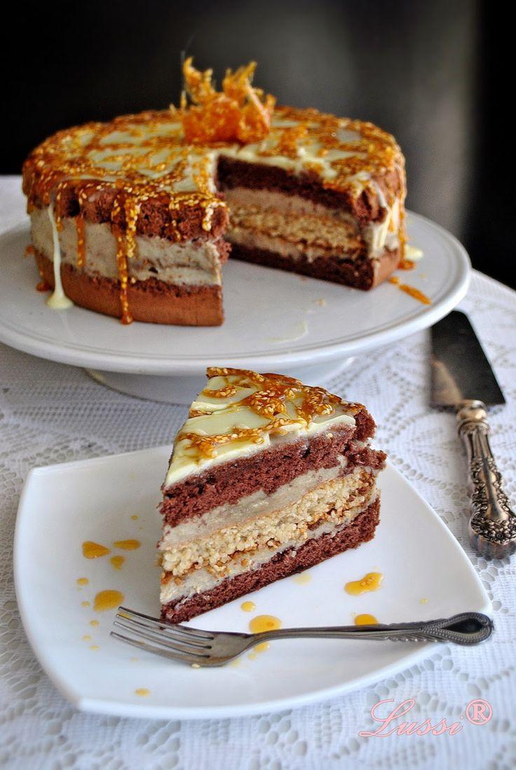 Lussi`s World of Artcraft: Една по-различна торта:  Торта с халва / Halva Cak...