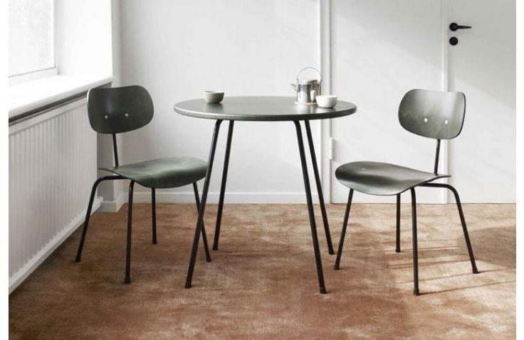 Table de Repas Ronde SE 330 Design Egon Eiermann 1949 Wilde + Spieth - Mobilier Sodezign - chaises et tables avec plateau vert