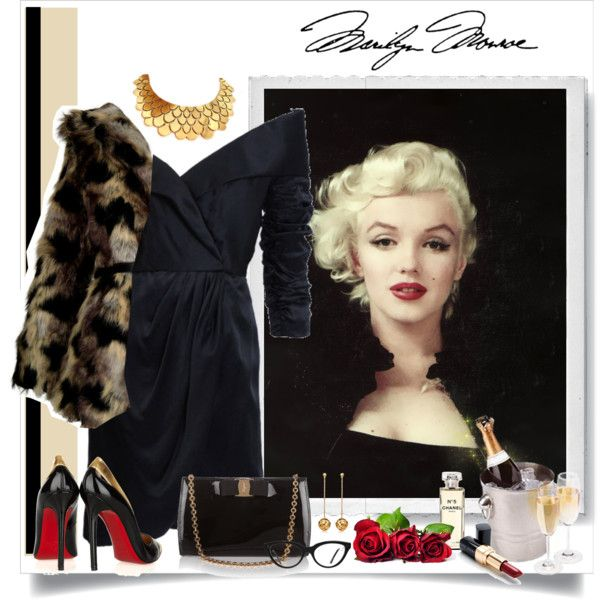 """Marilyn Monroe"" by blackpearls on Polyvore"