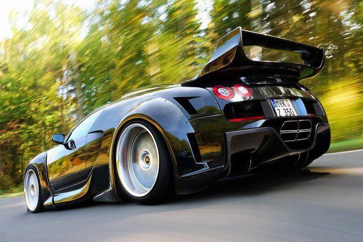 Black Bugatti Veyron Car