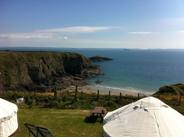 Caerfai Farm Camp Site, St Davids, Pembrokeshire. Wales. Camping. Glamping. Caravanning. Family Holiday. Coastal. UK. Pembrokeshire Coast National Park.