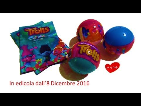 NOVITA' DICEMBRE 2016! BALLS CON PERSONAGGI DEL FILM ANIMAZIONE TROLLS -...