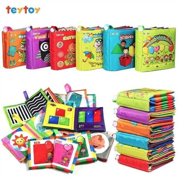 TEYTOY Baby Toy Soft Infant Activity Baby Toys My First Word Book to Knowing