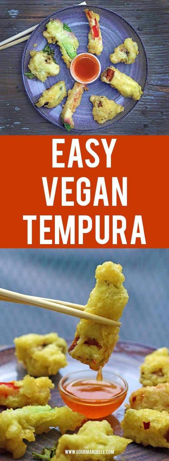Easy Vegetarian Tempura   Do you want to know how to make vegetarian tempura? Here's an easy recipe for making crispy and delicious vegan tempura. #japanese #tempura #veganrecipes