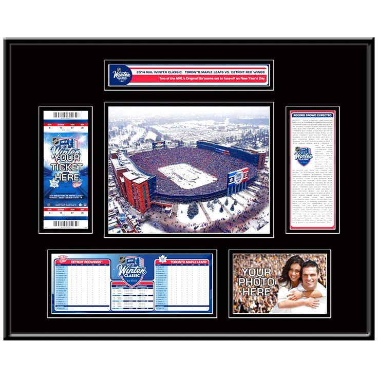 Toronto Maple Leafs vs. Detroit Red Wings 2014 NHL Winter Classic Ticket Frame - $119.99