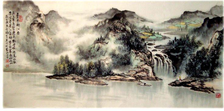 La peinture Shan Shui/Shan Shui painting | Peinture ...