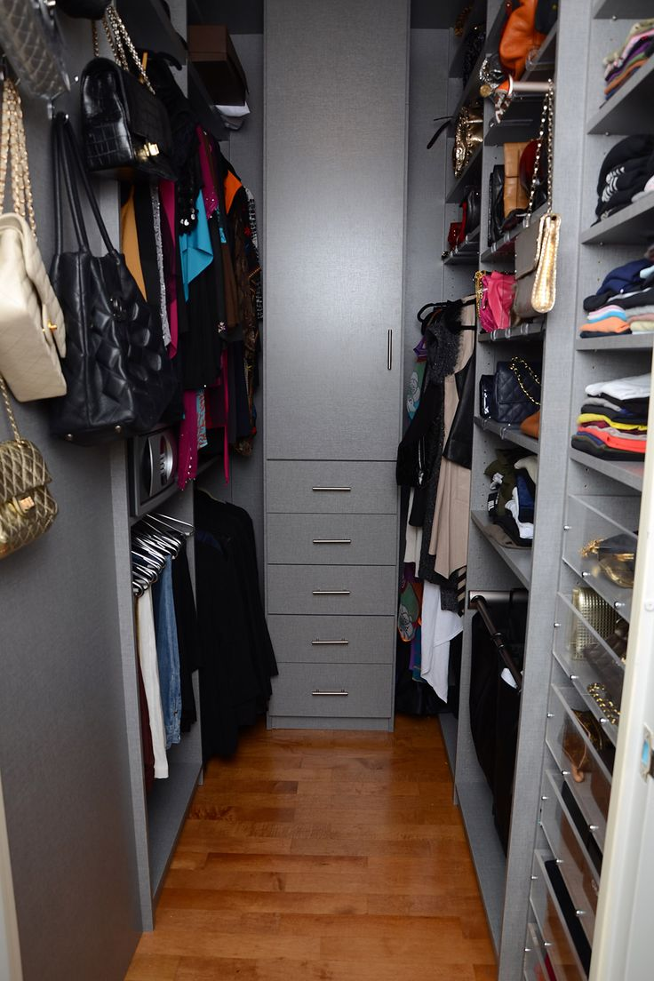 Gray Melamine Walk In Closet In A Tight Space. Learn More: Https: