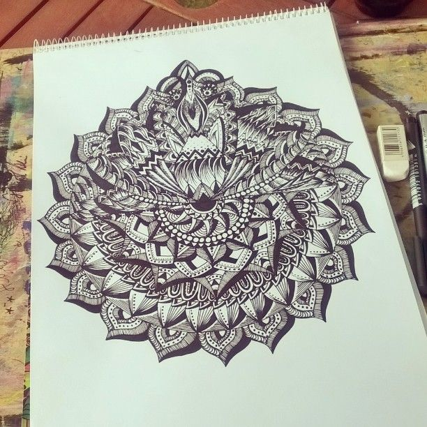 My mandalas in my instagram account✌ This just a little lotus flower
