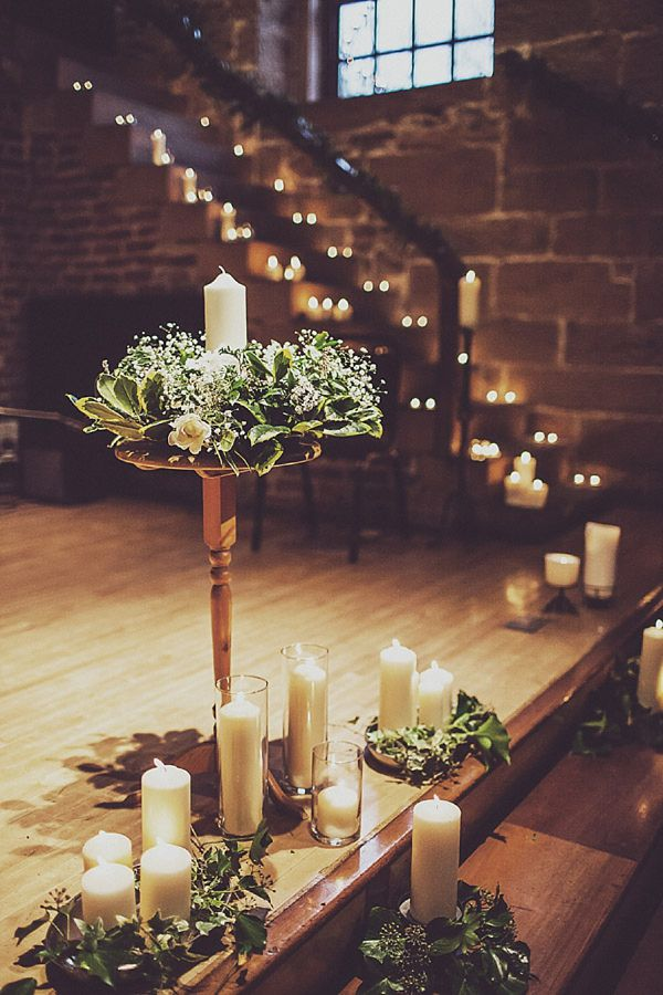 Best 25 wedding ceremony candles ideas on pinterest simple jenny packhams mya for a relaxed and elegant liverpool winter wedding wedding staircase decorationwinter junglespirit Images