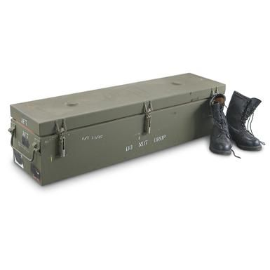 New U.S. Military Metal Storage Container. Perfect size for the 2013 Tacoma beds. Re-purposed tool box here I come