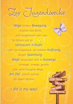 Art.Nr. 23975: Doppelkarten - Zur Jugendweihe