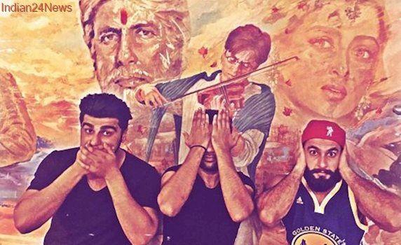 Arjun Kapoor, Ranveer Singh and Ali Abbas Zafar remind us of Amitabh Bachchan's Mohabbatein, but with a major twist. See pic