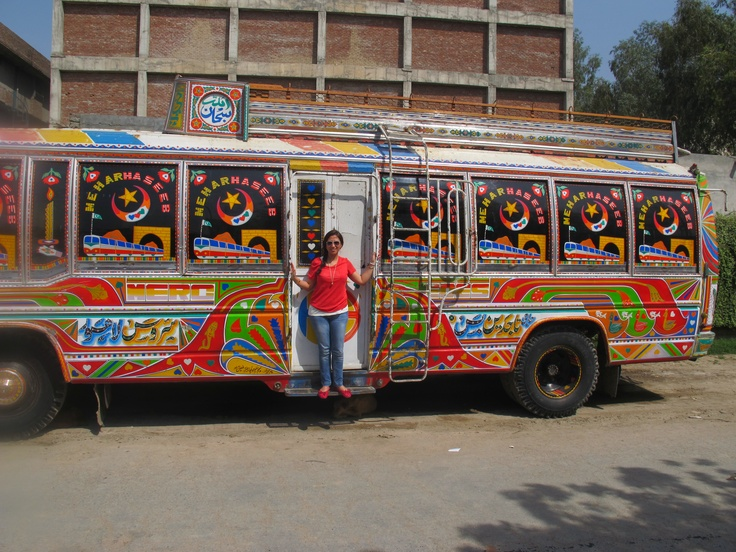 Colorful Bus in Lahore Pakistan