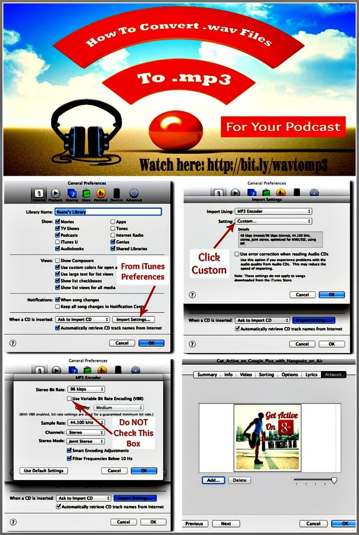 Use iTunes to Covert Wav Files to MP3 and Add ID3 Tags to