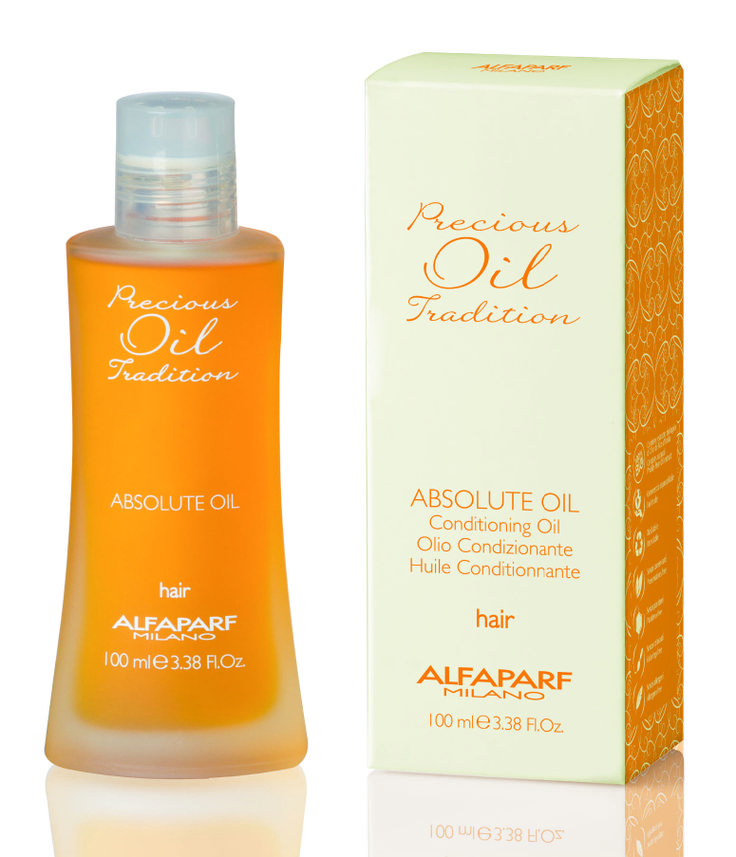NEW! Precious Oil Tradition Absolute Oil A powerfully conditioning hair oil. Suitable for all hair types, Precious Oil Tradition Absolut Oil protects the hair shaft, adding moisture and nutrition to dry or damaged hair. It instantly detangles and conditions, reduces blow dry time and always leaves the hair soft and shiny.