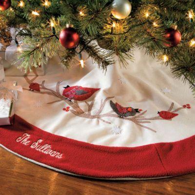Cardinal Christmas Tree Skirt, Improvements