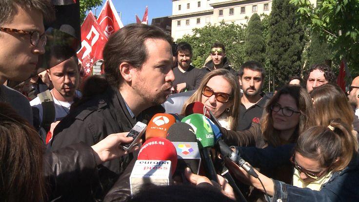 """Pablo Iglesias: """"Contra la trama, moción de censura"""""""