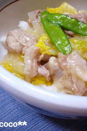 やわらか豚肉と白菜の中華どんぶりの画像
