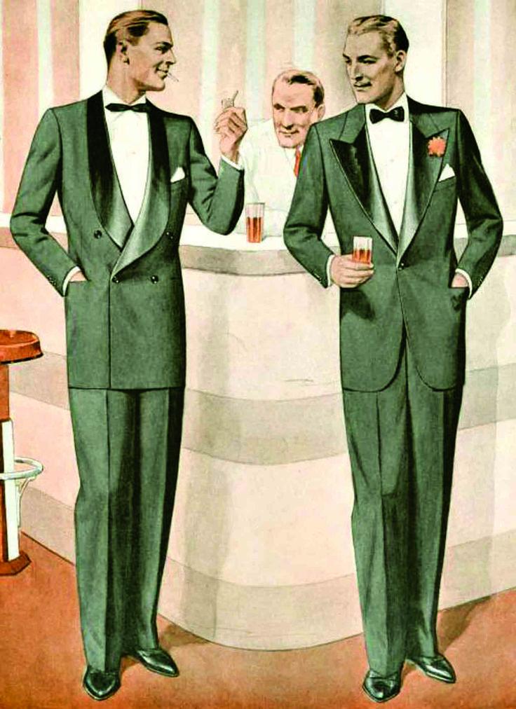 1940s Men's Formalwear, Tuxedos, Evening Attire   1940s ...