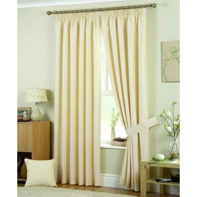 """Hudson Ready Made Curtains Natural    Luxurious 3"""" tape heading  Fully lined curtains  Available in four colourways  Matching tie backs and filled cushions available"""