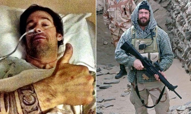 Former Navy SEAL shot in stomach, plugs it with is finger as he chases the guys who shot him before driving himself to a fire station for medical treatment...bad ass.