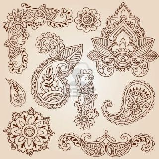 Henna designs - embroidery designs