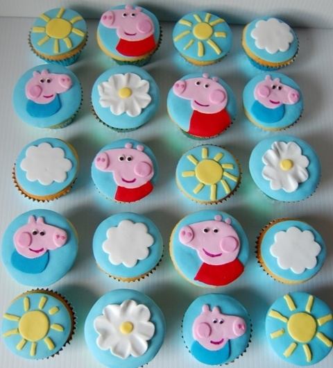 Peppa Pig Cupcakes -cause I'm sure Bambi and Cinderella would love to make these.