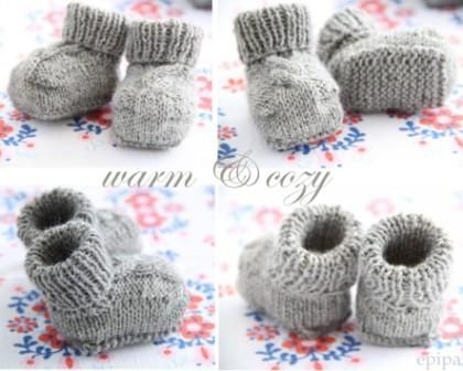 Privatsachen by epipa: Strickanleitung Baby Booties
