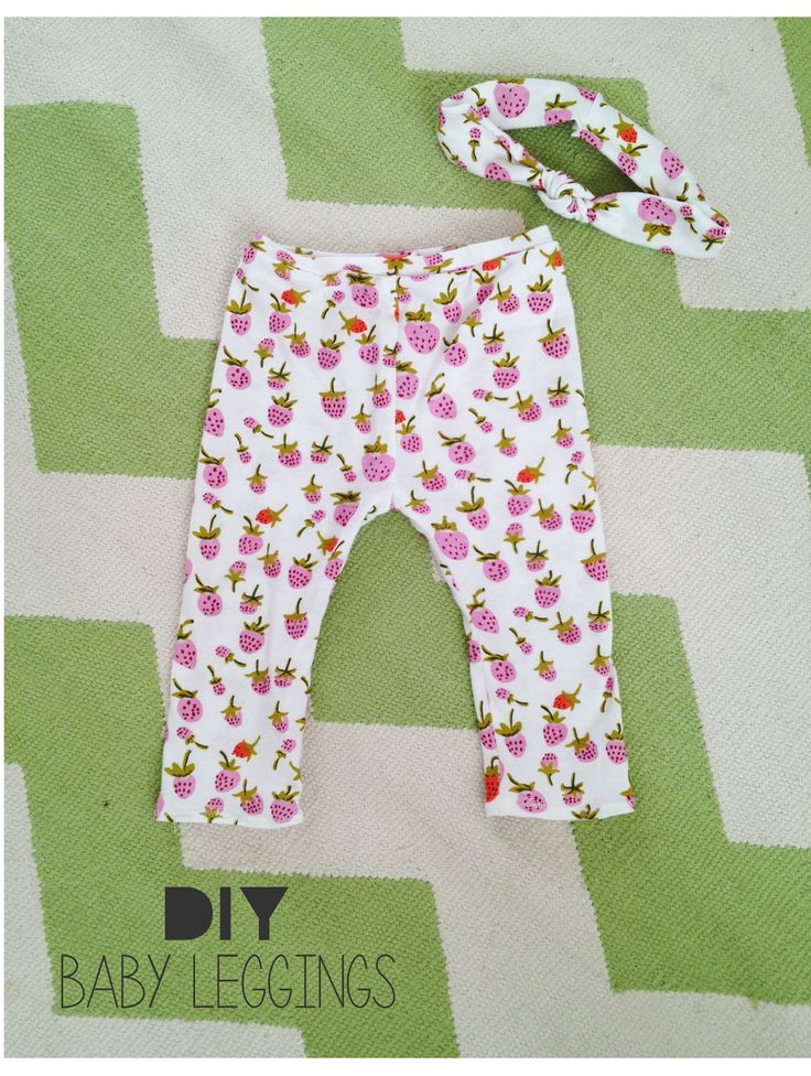 Baby Leggings and head band - so cute and easy! From the Sara Project | Sewing for Kids ...