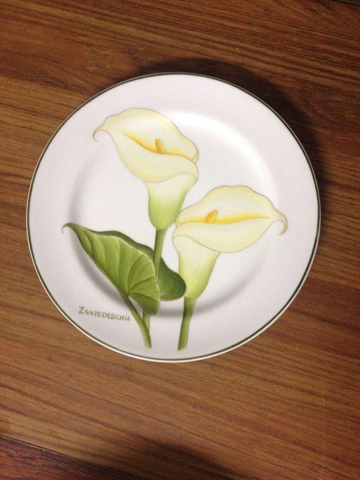 """Set de pratos """" Botanica """" pintados a mão"""