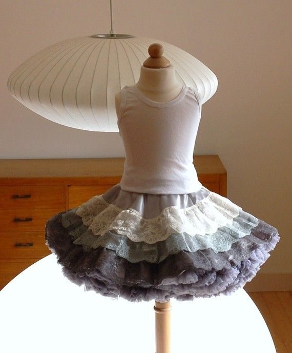 A cute little outfit to match mommy :) (Sasha's Lace Twirl Skirt by DreamSpunKids, $8.50)