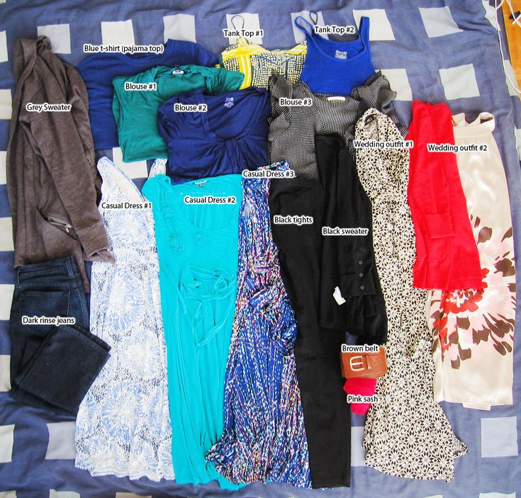packing for a semi-formal long trip
