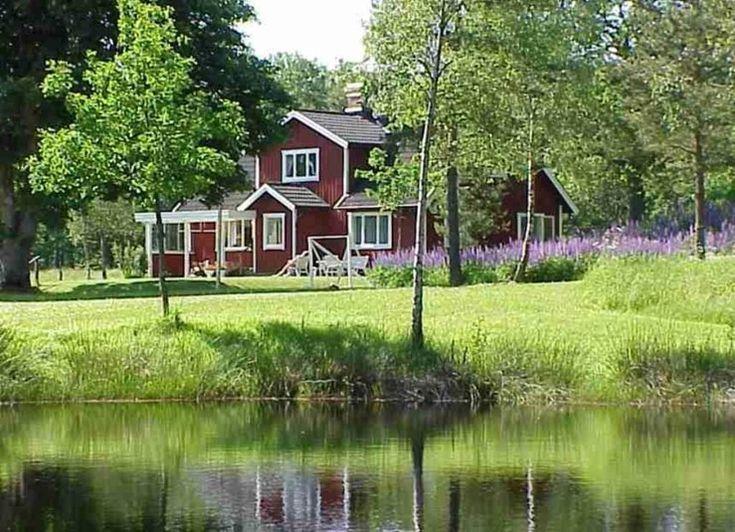Ferienhaus in Schweden mit Badeteich