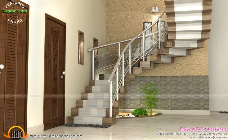 Best Modular Kitchen Bedroom And Staircase Interior House 400 x 300