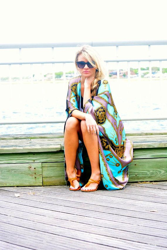 Solemare oversized beach cover up silk shrug by solemareny on Etsy, $59.00