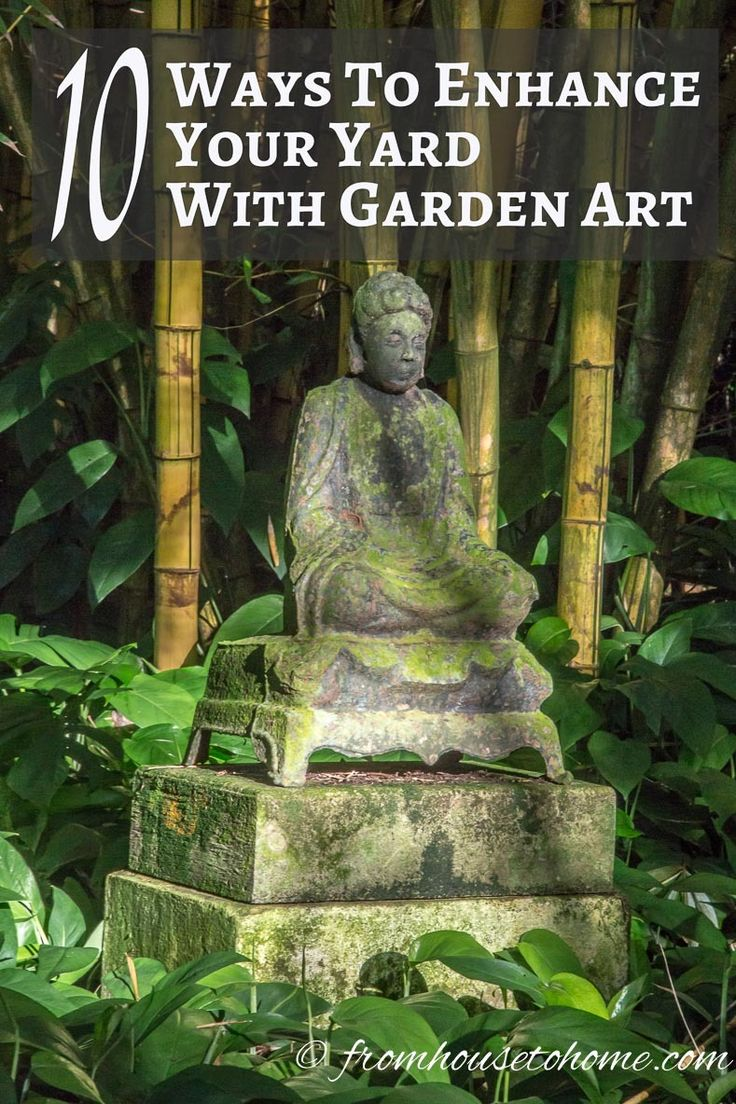 10 Ways To Enhance Your Yard With Garden Art | Want to add interest to your garden but not sure what to do? Click here to get some inspiration and find ways to enhance your yard with garden art.