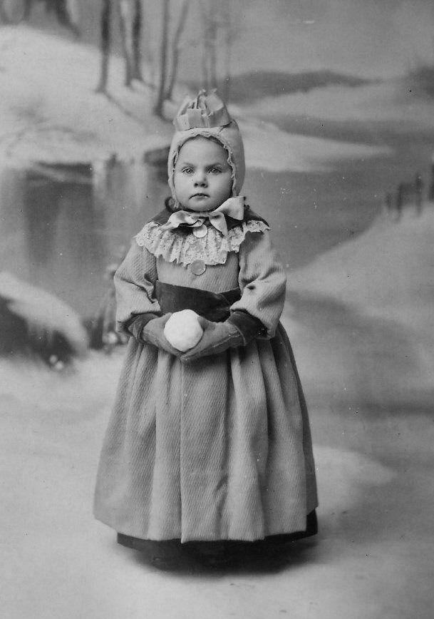 Victorian childrens winter costume