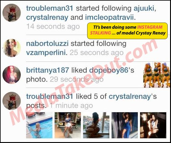 CAUGHT SLIPPING!!!! We Just Caught Rapper TI . . . Sending THIRSTY INSTAGRAM MESSAGES . . . To Some BIG BOOTY MODEL Girl!!! (Can You BLAME Him Tho . . . SHE BAD)