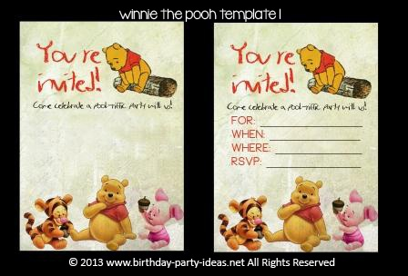 Throw a perfect Pooh Party  #birthday #party #invitation #template #printable #winniethepooh $2.00