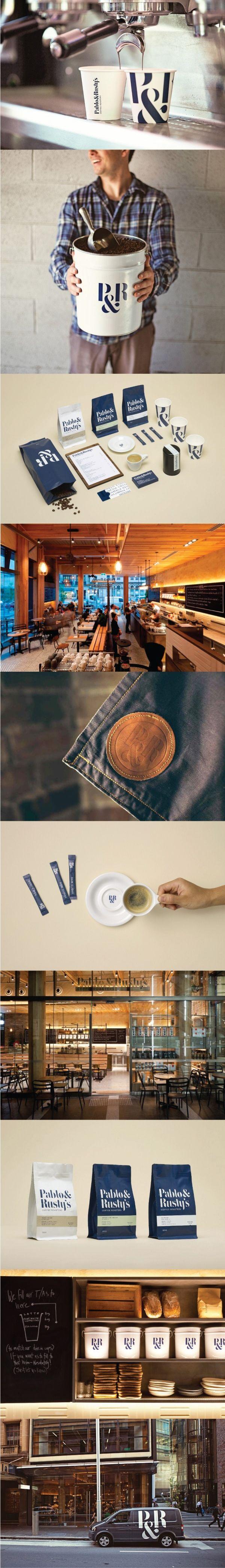 Pablo & Rusty's. Despite taste, this is the best looking coffee brand. #branding #identity #design