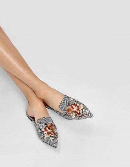 ab0592f81b93d Multi Floral Embroidery Slip Ons