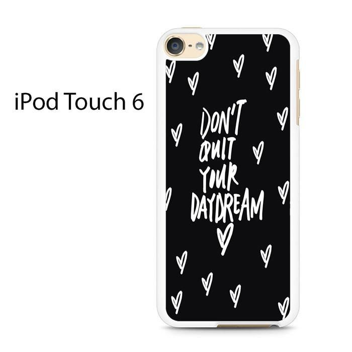 Daydream-White-Ink-On-Black-Full-Wrap-2 Ipod Touch 6 Case