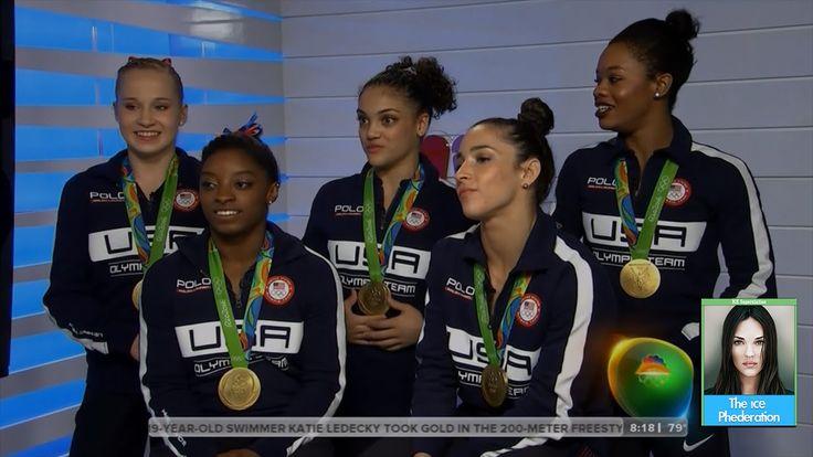 US Women's Gymnastics Team Final 5 Interview on Today Show | LIVE 8-10-16